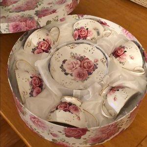 Other - Rose 12 pc Tea Set